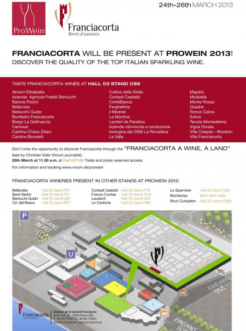 flyer franciacorta at prowein 2013